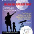 Jeudi 20 juillet : (16h à 18h) : (tout public, salle communale de Clamensane) «Le Système Solaire en 2017» Gérard Oudenot Directeur Honoraire du département d'Astronomie du Palais de la […]